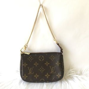 Louis Vuitton Coin Bag with wristlet Strap